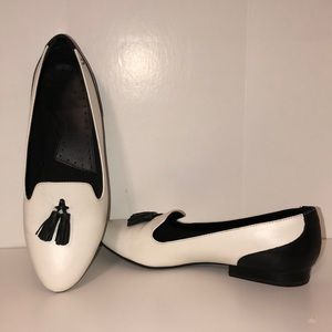 Black and White Loafer Style Shoes